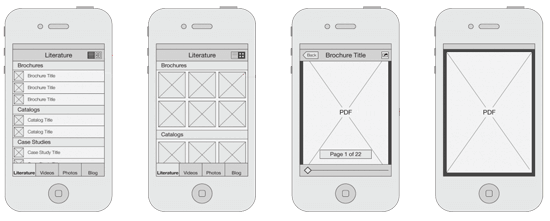 App Wireframe example