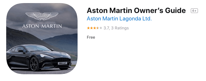 Aston Martin Owners Guide App